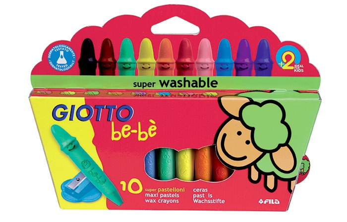 ����� Giotto be-be Crayons 10 wax �������� 10 ������