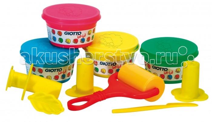 Giotto be-be Bucket мягкая паста для моделирования инструментыbe-be Bucket мягкая паста для моделирования инструментыGiotto be-be Bucket мягкая паста для моделирования 4 цв х 100 гр, инструменты, в пластиковом чемоданчике.  Набор для лепки в чемоданчике Giotto be-be предназначен для самых маленьких, позволит малышу проявить свои таланты и создать много удивительных и забавных фигурок. В наборе вы найдете четыре баночки с пастой голубого, зеленого, розового и желтого цветов, формочки и инструменты для лепки.   Ярко оформленный удобный чемоданчик со знаменитой овечкой Be-Be порадует любого малыша и сделает творческие занятия еще интереснее. Паста для лепки стимулирует развитие творческого потенциала ребенка, фантазии и воображения, мелкой моторики рук, а также способствует самовыражению.  Особенности пасты для моделирования: Яркие и насыщенные цвета Паста хорошо лепится, держит форму, не засыхает во время работы На воздухе паста постепенно затвердевает, но добавив в нее немного воды и размяв руками, она может быть использована повторно Цвета отлично смешиваются между собой Не липнет к рукам и хорошо отстирывается с одежды Изготовлена на основе безопасных красителей, не вызывающих аллергию и раздражение Соответствует европейским нормам безопасности.<br>