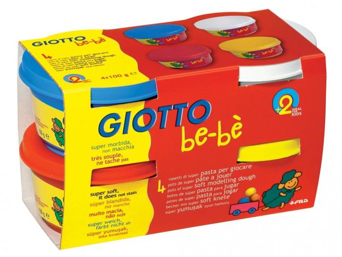 Giotto be-be Super Modelling Dough Мягкая масса для моделированияbe-be Super Modelling Dough Мягкая масса для моделированияGiotto be-be Super Modelling Dough Мягкая масса для моделирования 4 шт. х 100 г.  Масса для моделирования Giotto Be-be предназначена для самых маленьких. Ярко оформленная коробка со знаменитой овечкой Be-Be порадует любого малыша. В упаковке четыре цвета: белый, оранжевый, голубой, желтый. Масса изготовлена из натуральных, экологически чистых материалов.   Масса для лепки имеет отличные пластичные свойства, не засыхает и не затвердевает при работе. На воздухе масса постепенно затвердевает, но может быть снова размягчена водой и использована. Цвета хорошо смешиваются между собой. Поделку можно раскрасить. Помогает развивать мелкую моторику рук, цветовое восприятие и фантазию. Продукт проверен и одобрен дерматологами.<br>