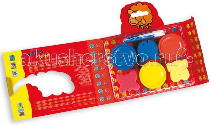 Giotto Набор пальчиковых красок be-be Super Finger Colours для моделирования