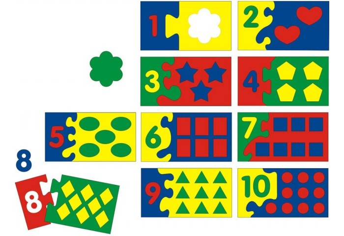 Флексика Мозаика мягкая Математический набор (86 деталей) от Акушерство