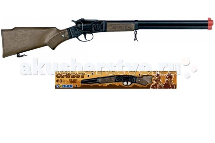 Gonher Игрушка Винтовка (черная) 98/6Игрушка Винтовка (черная) 98/6Gonher Винтовка (черная) на 8 пистонов, который сделан известным испанским производителем игрушечного оружия.   Особенности: Модель изготовлена из металла наивысшего качества.  Тщательно продуманная конструкция пистолета обеспечит максимальную безопасность ребенка во время игры.  Пистоны для оружия приобретаются отдельно.  Оригинальный дизайн и высокая реалистичность обязательно понравятся вашему мальчику. Размер винтовки: 62 см<br>