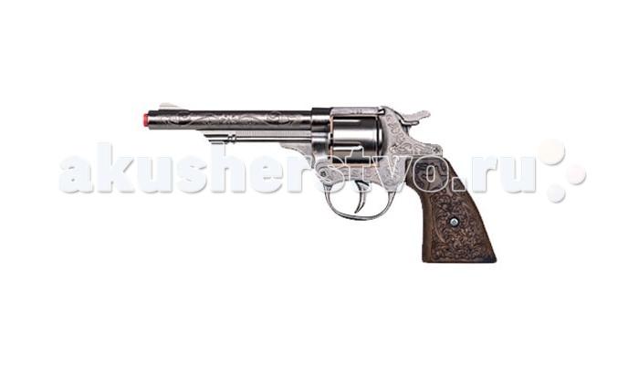 Gonher Игрушка Ковбойский револьвер (металл) 80/0Игрушка Ковбойский револьвер (металл) 80/0Gonher Ковбойский револьвер (металл) на 8 пистонов, который сделан известным испанским производителем игрушечного оружия.   Особенности: Модель изготовлена из металла наивысшего качества.  Тщательно продуманная конструкция пистолета обеспечит максимальную безопасность ребенка во время игры.  Пистоны для оружия приобретаются отдельно.  Оригинальный дизайн и высокая реалистичность обязательно понравятся вашему мальчику. Размер: 20,5 х 9,5 см<br>