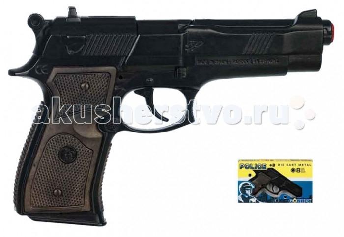Gonher Игрушка Пистолет Police (механический звук) 39/6Игрушка Пистолет Police (механический звук) 39/6Gonher Пистолет Police (механический звук) на 8 пистонов, который сделан известным испанским производителем игрушечного оружия.   Особенности: Модель изготовлена из металла наивысшего качества.  Тщательно продуманная конструкция пистолета обеспечит максимальную безопасность ребенка во время игры.  Пистоны для оружия приобретаются отдельно.  Оригинальный дизайн и высокая реалистичность обязательно понравятся вашему мальчику. Размер: 22 х 14 см<br>