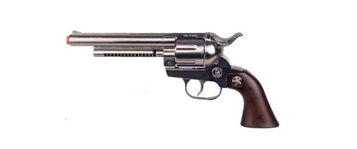 Gonher Игрушка Ковбойский револьвер (металл) 121/0Игрушка Ковбойский револьвер (металл) 121/0Gonher Ковбойский револьвер (металл) на 12 пистонов, который сделан известным испанским производителем игрушечного оружия.   Особенности: Модель изготовлена из металла наивысшего качества.  Тщательно продуманная конструкция пистолета обеспечит максимальную безопасность ребенка во время игры.  Пистоны для оружия приобретаются отдельно.  Оригинальный дизайн и высокая реалистичность обязательно понравятся вашему мальчику.<br>
