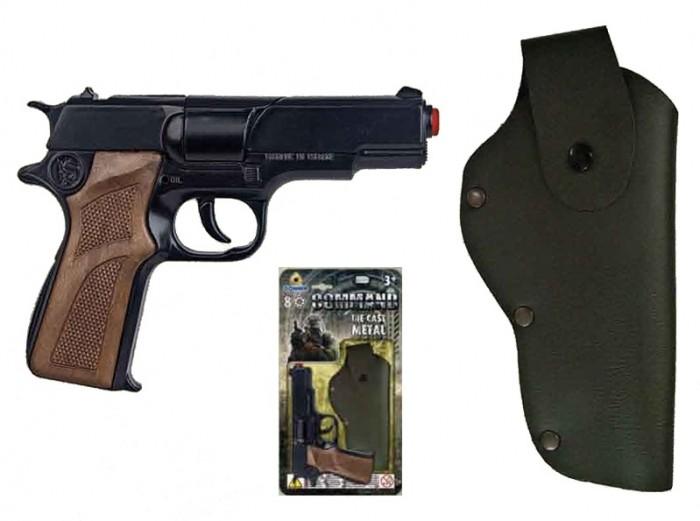 Gonher Игрушка Полицейский пистолет + кобура 1125/6Игрушка Полицейский пистолет + кобура 1125/6Gonher Полицейский пистолет + кобура на 8 пистонов, который сделан известным испанским производителем игрушечного оружия.   Особенности: Модель изготовлена из металла наивысшего качества.  Тщательно продуманная конструкция пистолета обеспечит максимальную безопасность ребенка во время игры.  Пистоны для оружия приобретаются отдельно.  Оригинальный дизайн и высокая реалистичность обязательно понравятся вашему мальчику.<br>