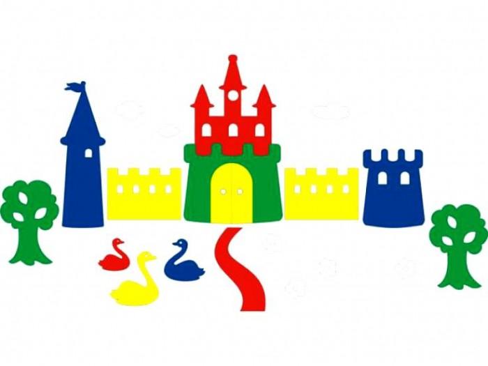 Флексика Мозаика набор для ванны Замок