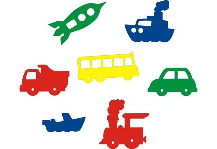 Флексика Мозаика набор для ванны Мир транспорта