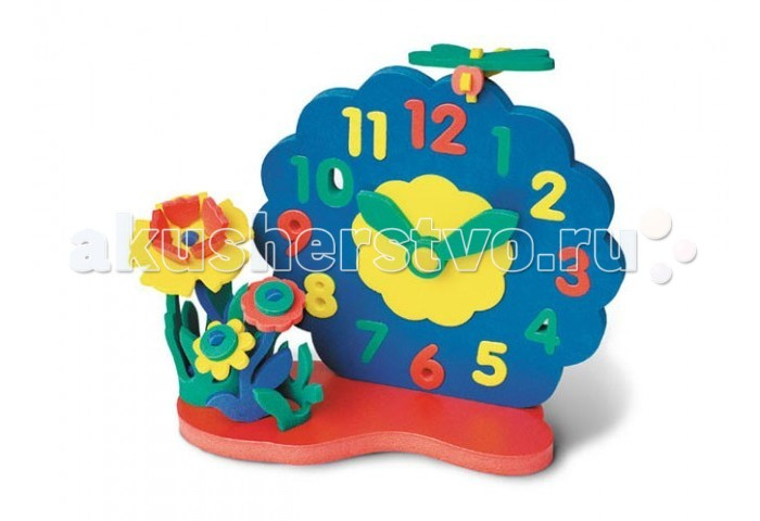 Развивающая игрушка Флексика Часы без механизма Цветы от Акушерство
