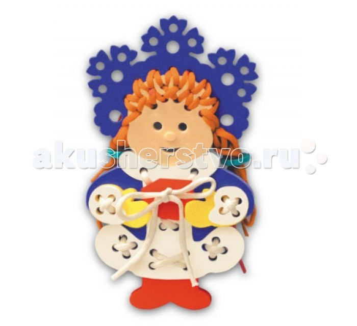 Развивающая игрушка Флексика Шнуровка Снегурочка