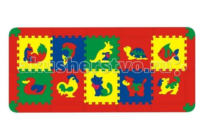 Игровой коврик Флексика с животными 10 деталей
