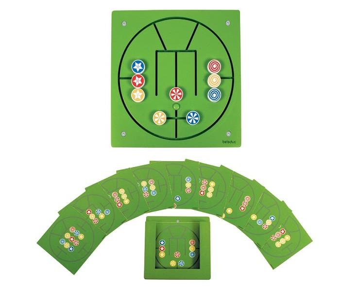Деревянная игрушка Beleduc Настенный игровой элемент Три в ряд