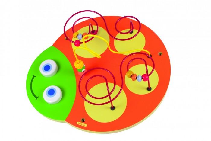 Деревянная игрушка Beleduc Настенный игровой элемент Гусеница ГоловаНастенный игровой элемент Гусеница ГоловаBeleduc Настенный игровой элемент Гусеница Голова для детей старше 3-х лет.   Различные игровые элементы в ходе игры передвигаются и, тем самым, развивают у ребенка зрительно-тактильную координацию и мелкую моторику.<br>