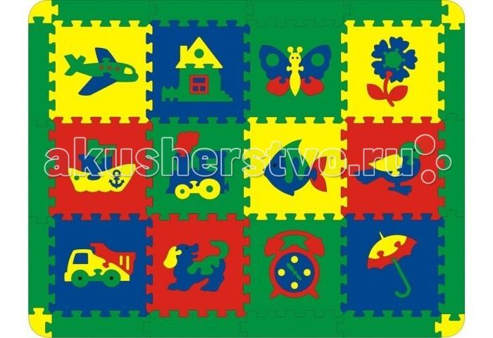 Игровой коврик Флексика Ассорти 12 деталей
