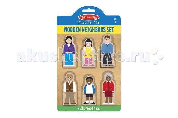 Деревянная игрушка Melissa & Doug Деревянный Мир Соседи