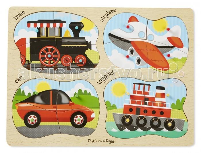 Деревянная игрушка Melissa &amp; Doug Пазл Транспорт 4 в 1Пазл Транспорт 4 в 1Melissa & Doug Пазл Транспорт 4 в 1 обязательно понравится вашему малышу и займет его внимание надолго.  Детские игрушки из дерева таят в себе глубокий смысл, это единение с природой, и ваш оберег. Деревянные детские игрушки раскрывают сказочный мир, который живет внутри нас, вместе с ними сказка оживает.  Игрушка развивает мелкую моторику рук и логическое мышление.<br>