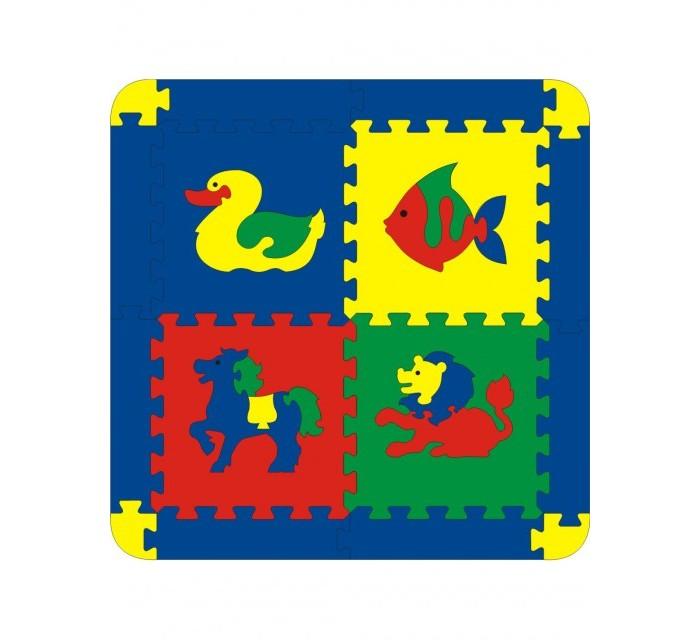 Игровой коврик Флексика с животными 4 детали