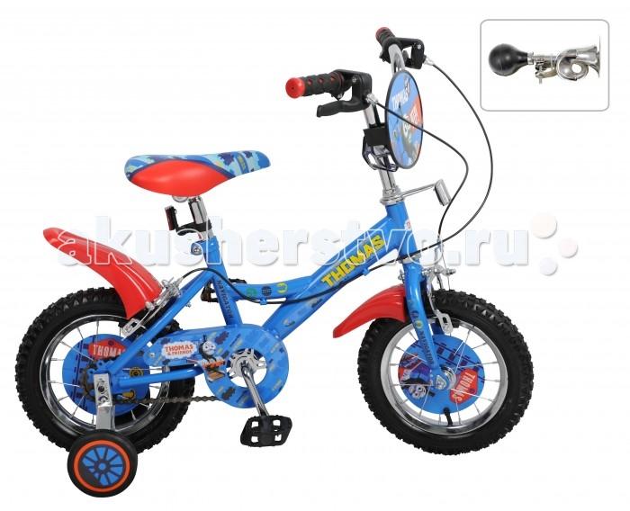 Велосипед двухколесный Navigator Томас и его друзья 12 KiteТомас и его друзья 12 KiteВелосипед Navigator Томас и его друзья 12 Kite - это хорошо собранный и надёжный велосипед для ребёнка. Модель подойдет для ребенка ростом 90-115 см. Детский велосипед с ярким дизайном и популярной лицензией Томас и его друзья.  Велосипед оснащен гудком и ручными тормозами. Катание на велосипеде благоприятно влияет на здоровье, укрепляет мышцы, развивает зрение, учит ориентироваться в пространстве и принимать решения.   Особенности: Тип: детский Материал рамы: сталь Амортизация: отсутствует Конструкция вилки: жесткая Конструкция рулевой колонки: неинтегрированная, резьбовая Диаметр колес: 12 дюймов Материал обода: алюминиевый сплав Двойной обод: нет Шатун: односоставной Возможность крепления боковых колес: есть Боковые колеса в комплекте: есть Тип переднего тормоза: ручной Тип заднего тормоза: ручной Уровень заднего тормоза: начальный Количество скоростей: 1 Уровень каретки: начальный Конструкция каретки: неинтегрированная Тип посадочной части вала каретки: квадрат Количество звезд в кассете: 1 Количество звезд системы: 1 Конструкция педалей: платформы Конструкция руля: изогнутый Настройка положения руля: регулируемый подъем Материал рамки седла: сталь Комфорт: защита цепи, щиток на руле<br>