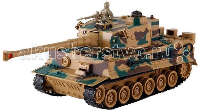 Yako Радиоуправляемый танк ТигрРадиоуправляемый танк ТигрРадиоуправляемый танк YAKO Тигр может не просто перемещаться в пространстве, он и стрелять из автоматической пневматической пушки.    Особенности:   Масштаб 1:24  Частота 27 МГц.   Пушка с инфракрасным излучаетелем.   Радиус действия пульта -12 м.   Радиус передачи ИК сигнала - 8 м.   Время работы 15-20 минут.   Время зарядки - 4 часа.   Скорость танка - 6 км/ч.   Демо режим.   Функция автоотключения.   Имитация отката при выстреле.   Движение танка во все стороны.   Поворот башни на 320 градусов.   Подъём на наклонную поверхность при угле наклона - до 45 градусов.    Питание танка от аккумулятора (в комплекте) Ni Cd 600 mAh 4,8V.  Питание пульта управления - от 2-х батареек типа АА (нет в комплекте).<br>