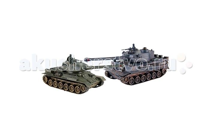 Радиоуправляемый танковый бой русский т34 и немецкий tiger 24g - zeg-99824 shnt