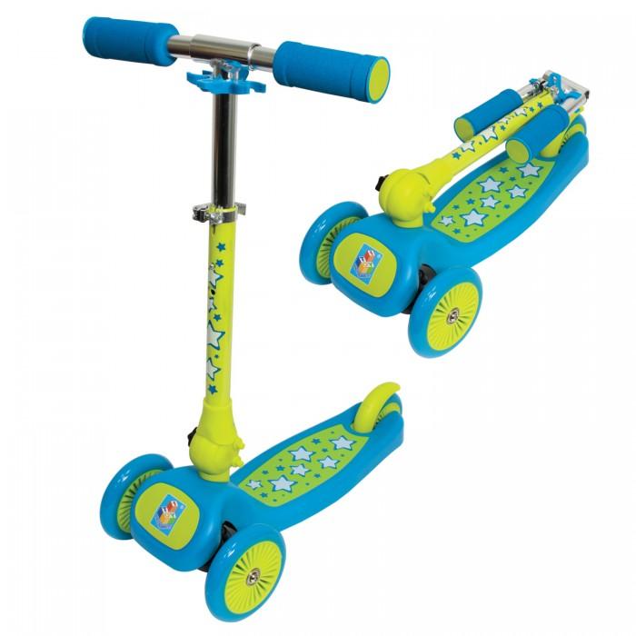 Самокат 1 Toy складнойскладнойСамокат 1 Toy складной трехколесный, созданный специально для начинающих. Ручки самоката покрыта мягким прорезиненным материалом, поэтому ребенок не натрет мозоли на ладошках.   Катание на самокате - одно из любимых занятий детей. Оно приобретает большую популярность, поскольку не требует специальных навыков. Любой ребенок будет счастлив такой покупке! Пусть ваш ребенок почувствует радость и свободу!   Особенности: Управление осуществляется наклонами влево и вправо Алюминиевый руль, регулируется по высоте Рама нейлон/пластик Складная конструкция PU колеса - передние 2х120 мм, заднее 100 мм  Бесшумное движение без тряски  Ножной тормоз на заднем колесе  Максимальная нагрузка: 30 кг   Размеры: 65х50х13.5 см Вес 2.45 кг<br>