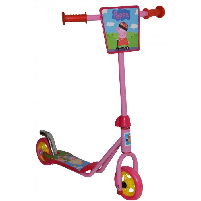 Самокат 1 Toy Peppa Т57568Peppa Т57568Самокат 1 Toy Peppa двухколесный, созданный специально для начинающих. Ручки самоката покрыта мягким прорезиненным материалом, поэтому ребенок не натрет мозоли на ладошках.   Катание на самокате - одно из любимых занятий детей. Оно приобретает большую популярность, поскольку не требует специальных навыков. Любой ребенок будет счастлив такой покупке! Пусть ваш ребенок почувствует радость и свободу!   Особенности: Стальной руль Рама сталь, нескользящее покрытие EVA колеса - переднее и заднее 110 мм  Бесшумное движение без тряски  Ножной тормоз на заднем колесе Декоративный щиток на руле Максимальная нагрузка: 35 кг   Размеры: 63х64х12 см Вес 1.55 кг<br>