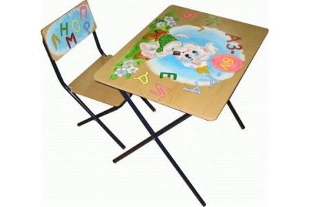 Столы и стулья Фея Комплект детской мебели Досуг трафарет