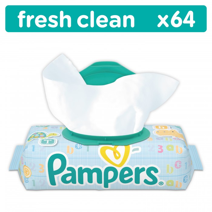 Pampers ������� �������� Baby Fresh Clean 64 ��.