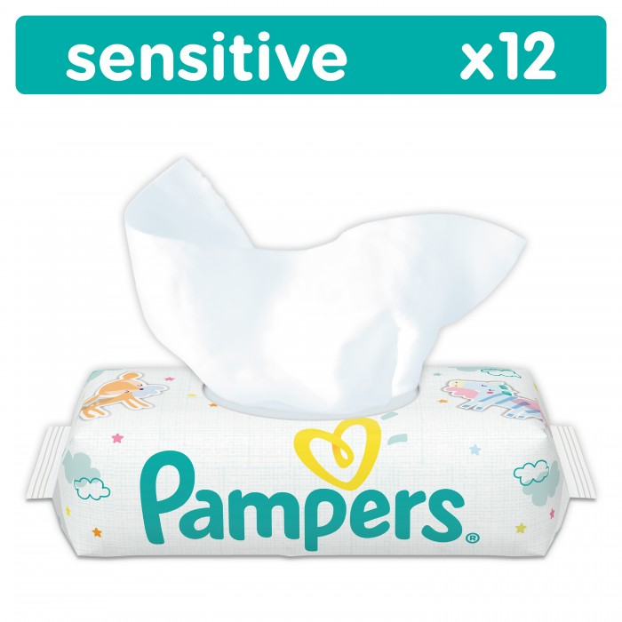 Pampers ������� �������� Sensitive 12 ��.
