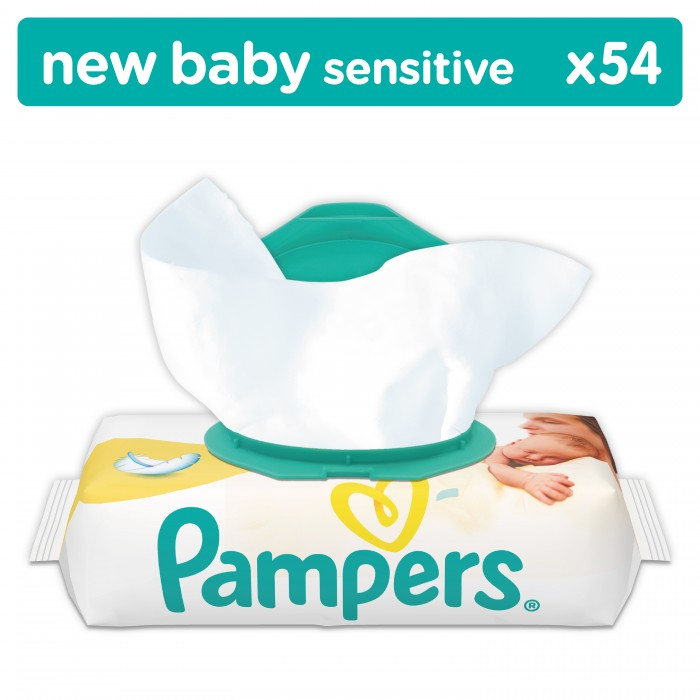 Pampers ������� �������� Baby Sensitive 54 ��.
