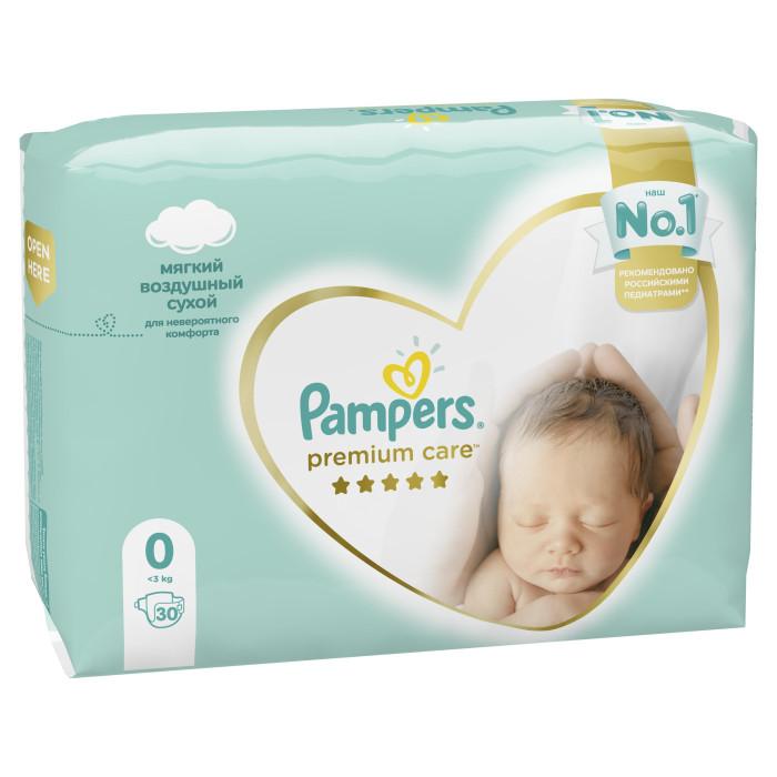 Pampers Подгузники Premium Care р.0 (0-2.5 кг) 30 шт.