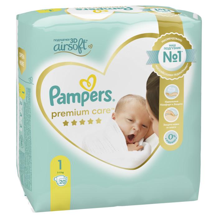 Pampers Подгузники Premium Care р.1 (2-5 кг) 22 шт.