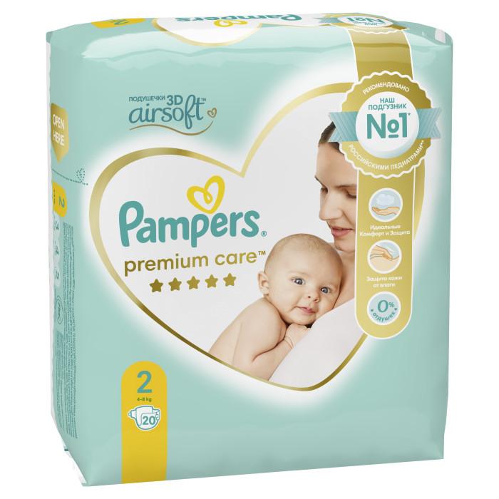 Pampers Подгузники Premium Care р.2 (3-6 кг) 22 шт.