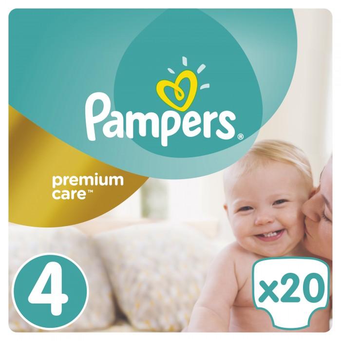 Pampers Подгузники Premium Care р.4 (8-14 кг) 20 шт.Подгузники Premium Care р.4 (8-14 кг) 20 шт.«5 звезд» защиты для идеальной кожи малыша!  Pampers® Premium Care «5 звезд» – это лучшие подгузники Pampers, созданные специально для превосходной защиты нежнейшей кожи малышей.   Pampers® Premium Care – это лучшие подгузники Pampers, созданные специально для превосходной защиты нежнейшей кожи малышей. Подгузник состоит только из гипоаллергенных материалов, что очень важно для кожи новорожденного. Pampers Premium Care 5 звезд защиты кожи.  Подгузники Pampers® Premium Care имеют дышащие микропоры, позволяющие свежему воздуху беспрепятственно проникать к коже малыша, а влаге испаряться.  Подгузники Pampers® Premium Care дарят малышу ощущение заботы и защищенности благодаря ряду уникальных свойств: технология DryMax, позволяющая сохранять кожу сухой тонкость и легкость, позволяют ребенку чувствовать комфорт, оставаясь под надежной защитой Pampers® эластичные вставки, которые повторяют движения малыша, предотвращая натирания и покраснения кожи лосьон алое вера (в размерах 1-5), создающий защитный слой.  Вес ребенка: 8-14 кг  Кол-во в упаковке: 20 шт<br>