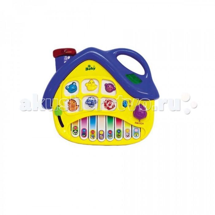 Музыкальная игрушка Zhorya Умный Я Пианино ДомикУмный Я Пианино ДомикZhorya Умный Я Пианино Домик со светом и звуком - это увлекательная игрушка с различными звуковыми эффектами.   Она выполнена в яркой цветовой гамме из высококачественных материалов.   С помощью данной игрушки ваш ребёнок выучит цифры и буквы, а также услышит веселые звуки и песенки.<br>
