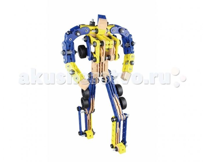 Конструктор Balbi деревянный WW-281 (270 деталей)деревянный WW-281 (270 деталей)Конструктор Balbi деревянный WW-281 (270 деталей). Набор Balbi WW-281 представляет собой набор деревянных деталей для сборки робота. Собранного робота можно трансформировать в грузовой автомобиль и обратно, причём разбирать конструкцию не потребуется!   В набор входит: 270 детали, инструкция по сборке и гаечный ключ.   Детали набора выполнены из натурального дерева, некоторые детали из пластика. Большое количество деталей позволит ребёнку фантазировать и экспериментировать, собирая всё что угодно!<br>