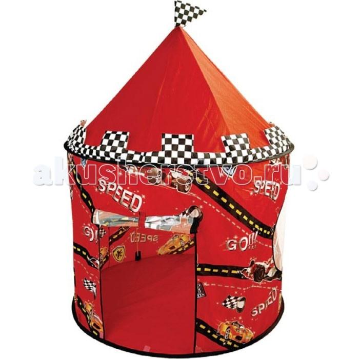 Top Toys Палатка ГонкиПалатка ГонкиTop Toys Палатка Гонки обязательно понравится вашему малышу и займет его внимание надолго.  Особенности: Дверь в палатку фиксируется двумя завязками, есть два больших окна, которые обеспечивают хорошую вентиляцию.  Игровой домик можно использовать для игры на открытом воздухе, предусмотрена защита от насекомых - сетки на окошках. Яркая красная палатка, декорирована любимыми персонажами мультипликационного фильма «Гонки».  Выполнена из легкой водонепроницаемой ткани, грязь легко смывается влажной тряпкой. Ткань из безопасного, экологически чистого материала, воздухопроницаемого. Просто и быстро разбирается и собирается. Буквально пару вращательных движений, установка дополнительных крепежей и готово.  В собранном виде легко помещается в небольшую сумку-переноску с ручками.  Благодаря компактности и маленькому весу, палатку удобно транспортировать.  Размер в собранном виде : 105х135 см Упаковка: тканевая сумочка с застежкой-молнией и ручками.<br>