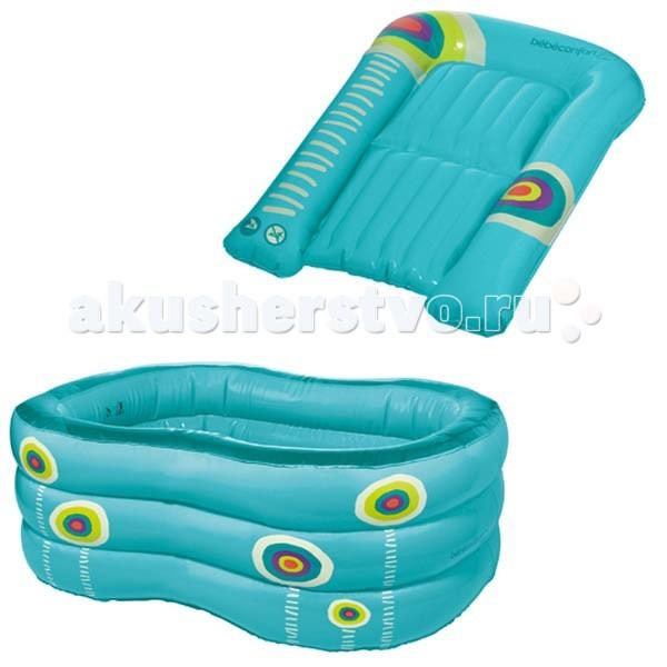 Bebe Confort Ванночка и матрас для пеленания надувныеВанночка и матрас для пеленания надувныеУльтра-компатный комплект из надувых ванночки и матраса. Надувная ванночка Bebe Confort идеальна для дачи, путешествий и для использования дома. Компактная в сложенном виде. Вашему малышу гарантирован полный комфорт и безопасность - неудариться о твердую поверхность. В прочную ванночку можно ставить горку для купания.Надувной матрас для пеленания Bebe Confort незаменим в путешествии или на даче,легокикомпактен. Благодаря специальным бортикам по краям, матрас совершенно безопасен. По размеру подходит ко всем столам для пеленания. Изделия предназначены для детей от 0 до 10месяцев Выдерживают нагрузку: до 15 кг  Размеры внутренние: 68 х 32 х 24 см<br>