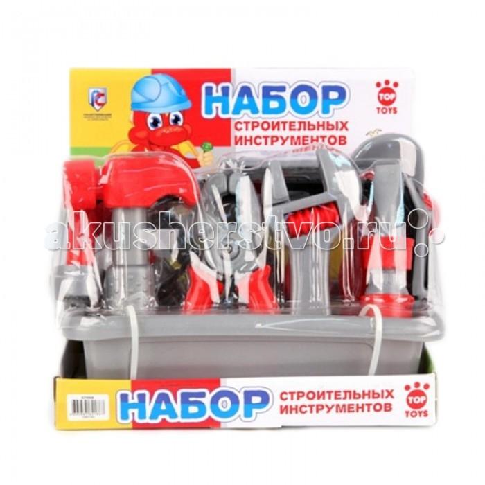 Top Toys Строительные инструментыСтроительные инструментыTop Toys Строительные инструменты порадует любого малыша и позволит ему побыть в роли настоящего мастера.   В комплекте есть все необходимые инструменты, чтобы ваш мальчик смог помогать папе по дому.   Все элементы изготовлены из качественного пластика.<br>