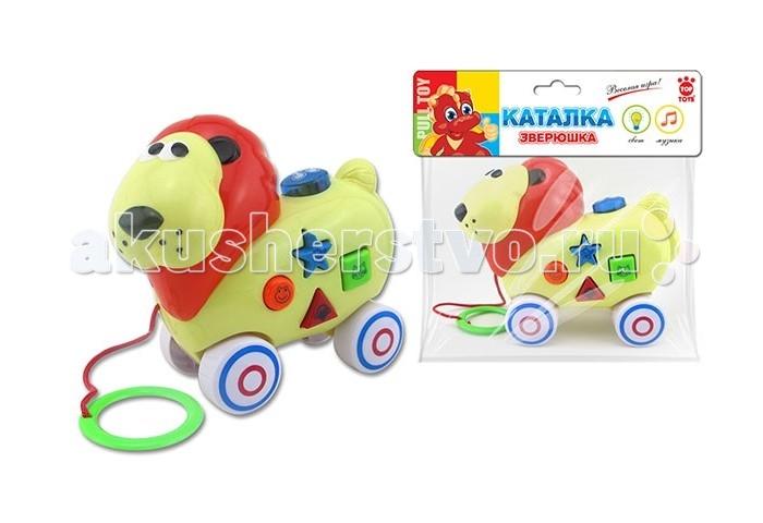 Каталка-игрушка Top Toys ЛевЛевКаталка-игрушка Top Toys Лев со звуком обязательно понравится вашему малышу и займет его внимание надолго.  Формирует у малыша представление о цвете, форме и размере, развивает моторику, логику, воображение, обучает счету.  Материал: безопасный пластик.<br>