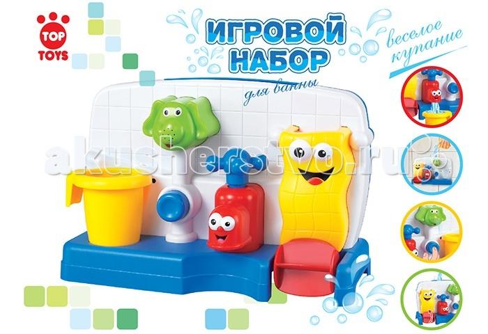 Top Toys Набор для купания GT8898Набор для купания GT8898Top Toys Набор для купания GT8898 изготовлен из пластика — материала, который безопасен для детей и при этом предельно прочен и легок  Особенности: Игрушка надежно крепится к кафелю или ванной.  Если наполнить игрушку водой, то жидкость приведет в движение мельницу. Поверните краник и из него потечет водичка, нажмите на кнопочку, водичка потечет из хобота слоника.  С такой игрушкой обычное принятие ванны превратится в веселое купание!<br>