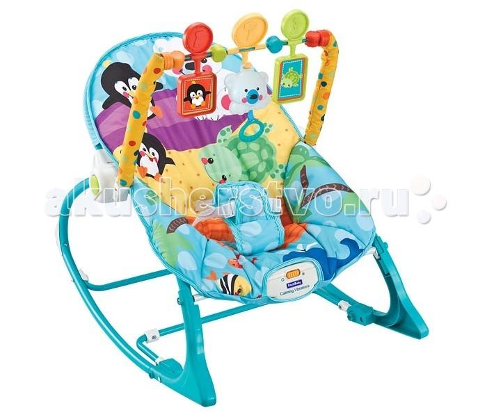 FitchBaby Кресло-качалка с игрушками и вибрацией Infant-To-Toddler Rocker 8815Кресло-качалка с игрушками и вибрацией Infant-To-Toddler Rocker 8815Fitch Baby Кресло-качалка с игрушками и вибрацией Infant-To-Toddler Rocker 8815  Это удобное кресло-качалка подойдёт как для сна, так и для игр. Оно абсолютно безопасно и просто в использовании. Комфортная ортопедическая спинка, позволяющая находиться в правильном положении. Массажный (вибро) режим обеспечит малышу спокойный и сладкий сон. Чехол кресла-качалки без труда снимается и стирается, что позволяет поддерживать гигиену на необходимом уровне. Существует два положения: лёжа и полусидя. Второй вариант особенно подойдёт для игр с подвесными игрушками, среди которых есть и музыкальная, которую легко будет запустить даже малышу – достаточно просто за неё потянуть. При желании их можно снять вместе с дугой.  Для работы блока вибрации требуется одна батарейка типа D (LR20), а для музыкальной игрушки необходимо две батарейки LR44. Батарейки в комплект поставки НЕ входят.   Особенности: Блок вибрации - поможет расслабиться и заснуть Трехточечные ремни безопасности - помогут избежать неприятностей Съемная дуга с тремя игрушками, одна из которых - музыкальная По мере роста малыша шезлонг можно трансформировать в кресло-качалку. Для этого достаточно убрать фиксаторы на ножках Возможность фиксации режима качалки Максимальный вес 18 кг.<br>