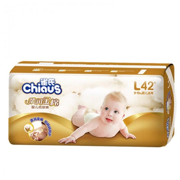 Chiaus Подгузники золотой хлопок L (9-13 кг) 42 шт.