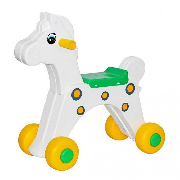 Каталка Cavallino Лошадка 55965Лошадка 55965Детская каталка Лошадка на 4 колесах выполнена из высококачественного пластика и обязательно понравится Вашему малышу. Эргономичное сиденье с бортиком для поддержки спины малыша.   Отличительная особенность этой каталки - высокий дорожный просвет, что обеспечивает хорошую проходимость и дает большое преимущество при использовании каталки на улице. Польза каталок для детей давно доказана. У каждого малыша от 18 месяцев, а лучше раньше должна быть подобная каталка.   Езда на каталке позволит малышам получить первые навыки управления транспортом. 4 колеса обеспечивают устойчивость каталки. Безопасность - 10 баллов.   Для удобства ребенка на каталке установлены ребристые пластиковые ручки. Колеса не оставляют никаких следов на напольном покрытии, едут плавно и бесшумно по любым дорогам.   Изготовлено из высококачественного и экологического пластика по самым современным европейским технологиям, не подвержен деформации и не выгорает на солнце. Максимальная нагрузка - 30 кг.  Размер 46х21х47 см.<br>