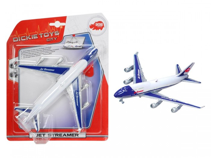 Dickie Самолет 25смСамолет 25смСамолет, 25см, nb,12/48 3343004  Самолет Dickie - красивый детализированный лайнер, который заинтересует не только детей, но и взрослых. Игрушка очень реалистична, она выполнена и раскрашена как настоящий большой пассажирский самолет. А наличие дополнительных деталей и возможностей делает ее особенно привлекательной для мальчиков. Помимо этого, самолет можно запускать и он будет ненадолго зависать в воздухе, благодаря крутящемуся пропеллеру.<br>