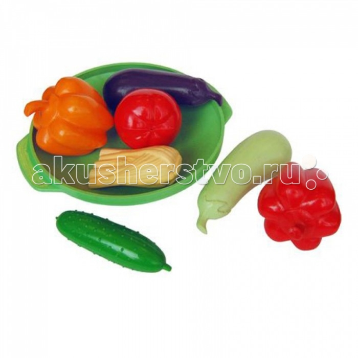 Плэйдорадо Набор Овощное ассортиНабор Овощное ассортиПлейдорадо Набор Овощное ассорти обязательно понравится вашей малышке и займет ее внимание надолго.  С этим набором ребенок открыть собственную игрушечную овощную лавку. Здесь овощи будут всегда свежие и красивые. Все овощи сделаны очень реалистично из высококачественного пластика.   Главное — объяснить ребенку, что они ненастоящие и поэтому не стоит пробовать их на вкус.   В наборе содержатся кабачок, баклажан, сладкий перец, лук и помидор. Все фрукты лежат на пластиковом подносе.<br>