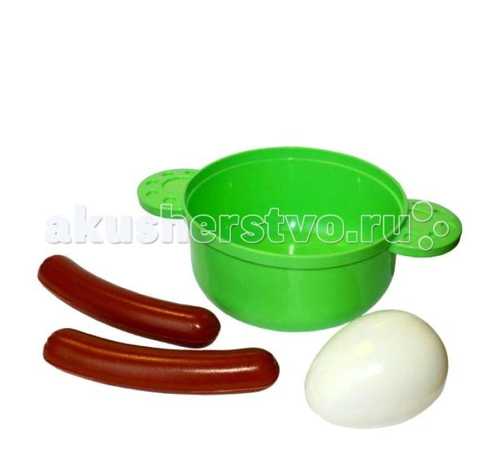 Плэйдорадо Набор Готовим завтракНабор Готовим завтракПлейдорадо Набор Готовим завтрак станет незаменимым дополнением на кухне вашей маленькой хозяйки, ведь с ним она сможет вкусно накормить завтраком всех своих кукол.   В набор входят 4 предмета.<br>