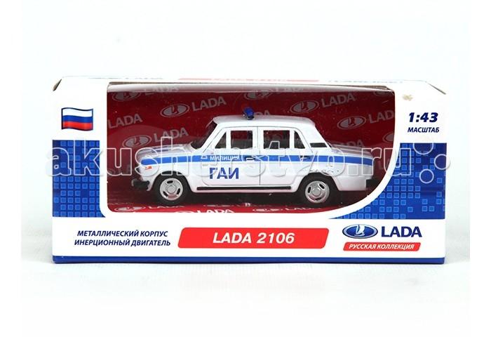 Carline Машина инерционная 1:43 Lada 2106 GT7796Машина инерционная 1:43 Lada 2106 GT7796Коллекционная машина Carline Lada 2106 GT7796 является точной копией в масштабе 1:43. Металлическая инерционная машинка ГАИ со световыми и звуковыми эффектами, сделает игру реалистичней и разнообразней. Такая продуманная до мелких деталей модель порадует каждого мальчика и его родителей!<br>