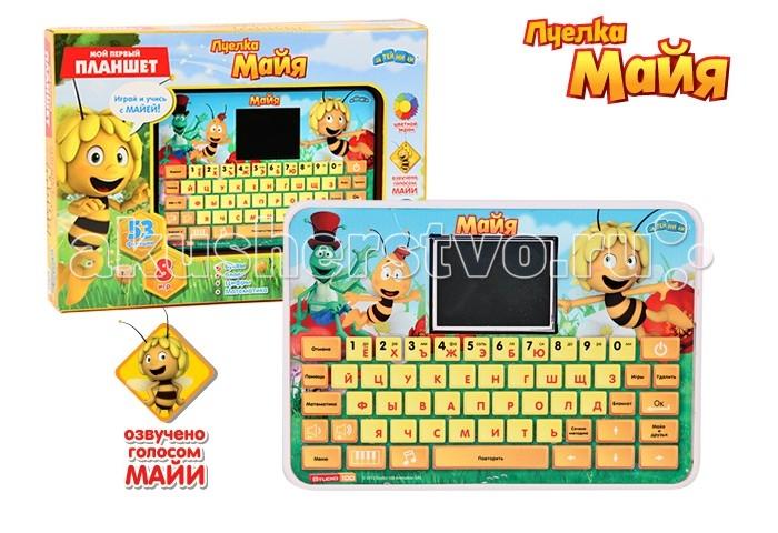 Пчелка Майя Компьютер планшет с цветным экраном 53 функции + 8 игр на русском языке