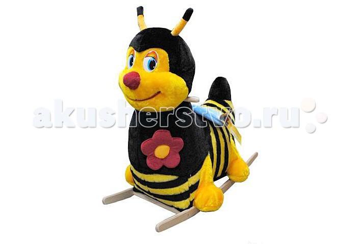 Качалка Тутси мягкая Пчелкамягкая ПчелкаМягкая и удобная качалкаПчелка выполнена из красочного высококачественного текстильного материала на деревянных дуговых подставках с удобным креслом. Для комфортного качания имеютсядеревянные держатели. Предназначена для детей от 12 месяцев  Максимальная нагрузка: 25 кг  Вес брутто: 4.5 кг<br>